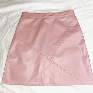 Pink Faux Leather Skirt by Revamped Premium Collection sz Medium